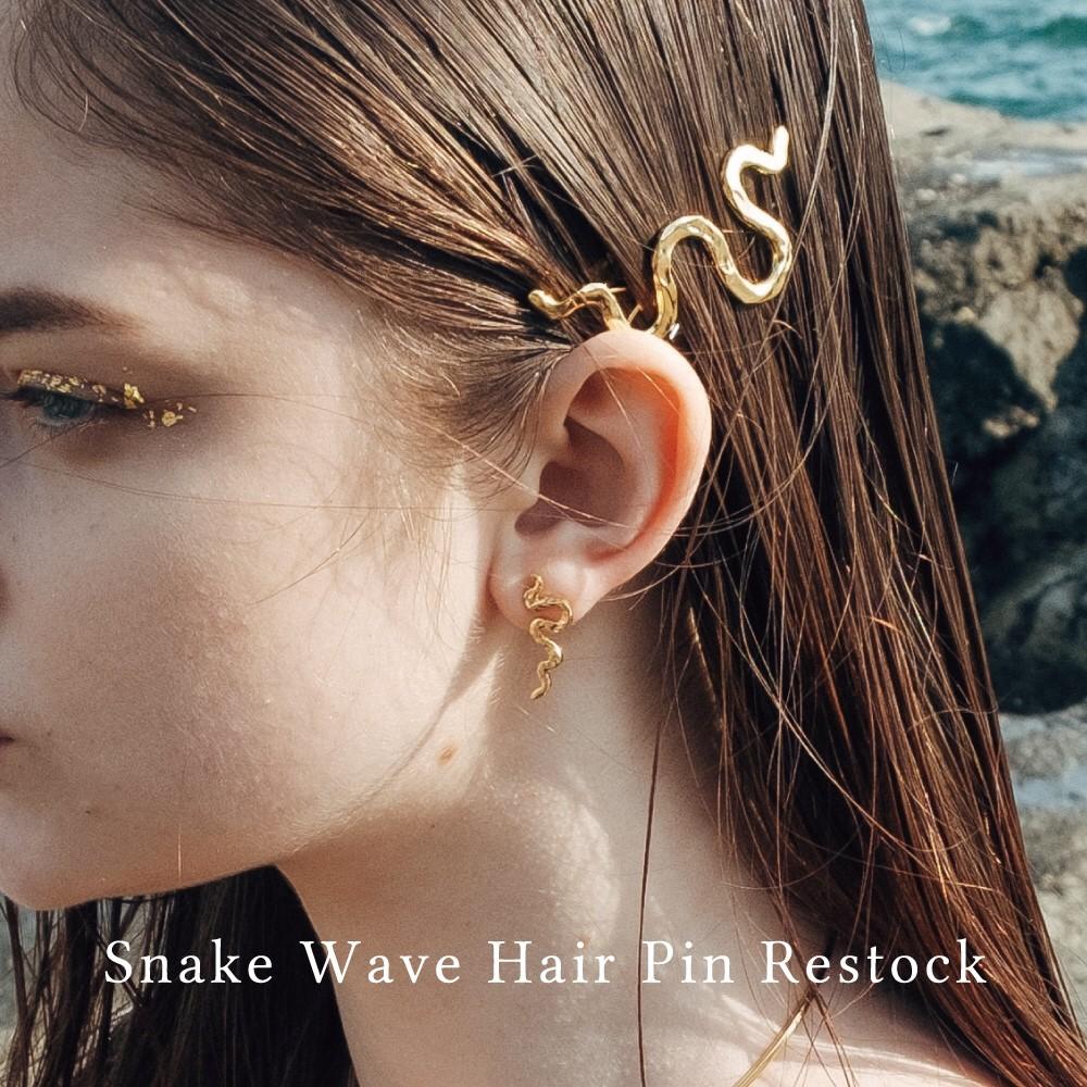 数量限定再入荷「Snake Wave Hair Pin」